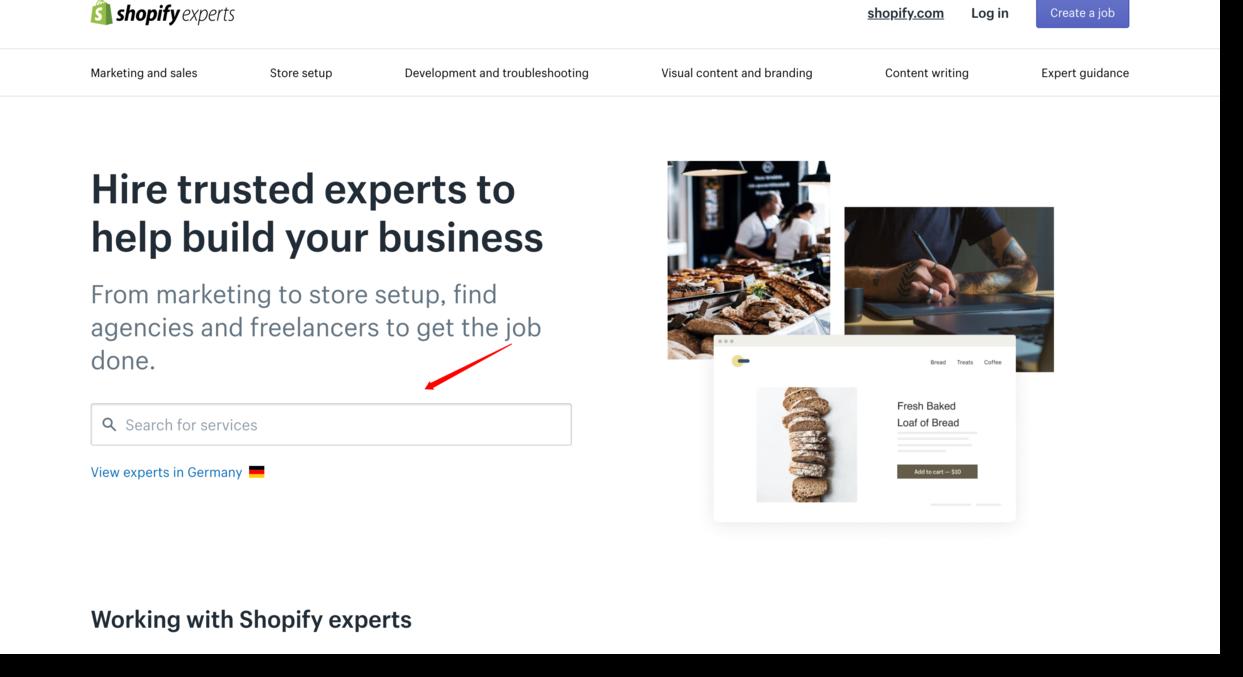 shopify experts website screenshot