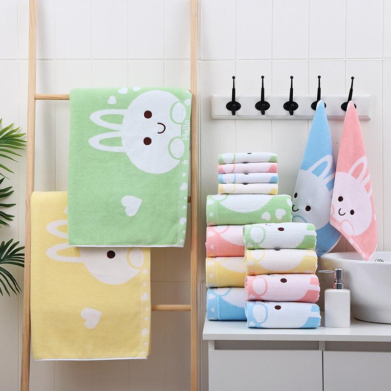 Hello, Bunny! Children Bath Towel