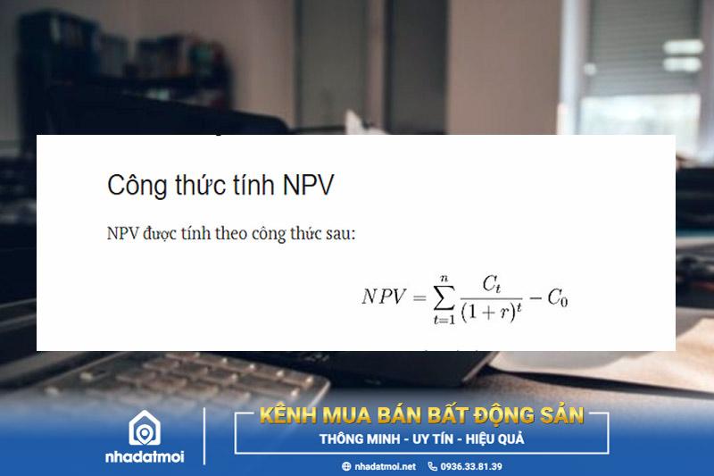 Công thức tính NPV
