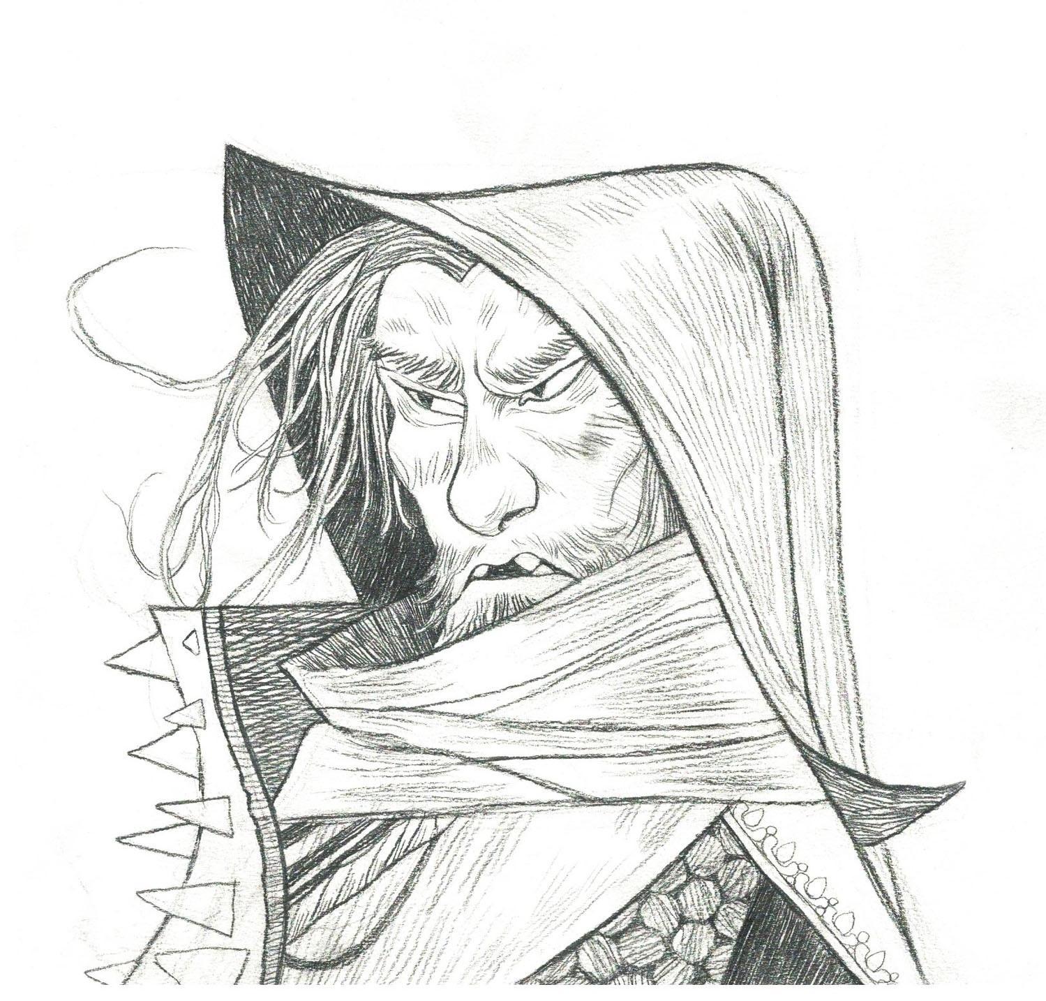 A sketch of Loop Hero's bandit enemy type