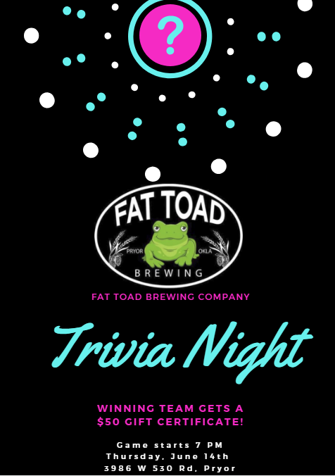 Fat Toad Brewing Company Trivia Night