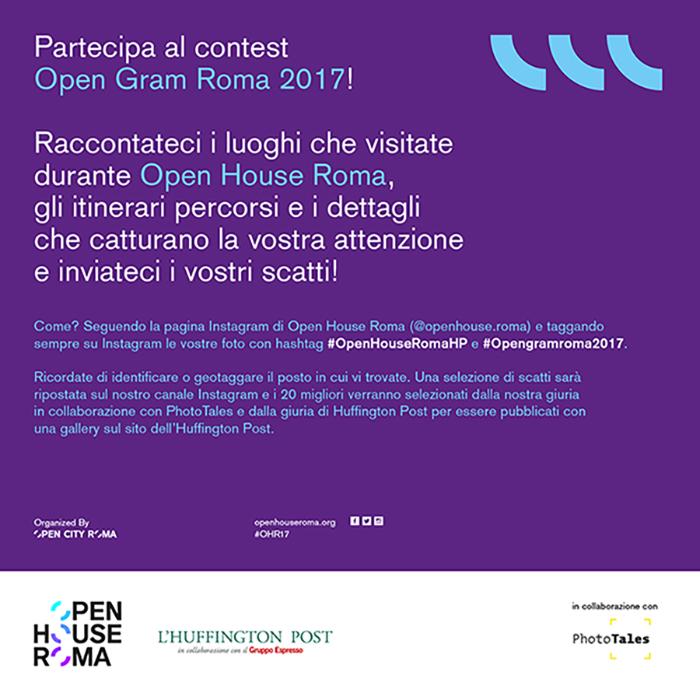 Partecipa al contest OpengramRoma 2017!