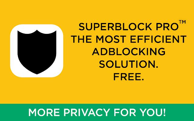 SuperBlock Adblocker chrome extension