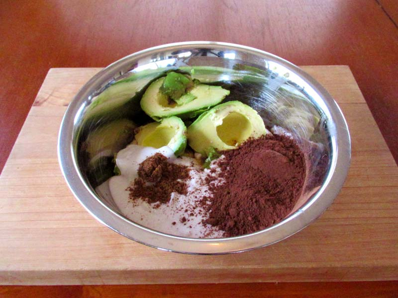 Combine all of the ingredients to make this guilt-free five-spice chocolate mousse in a bowl.