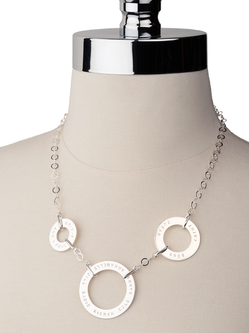 Trio Necklace by Citrus Silver