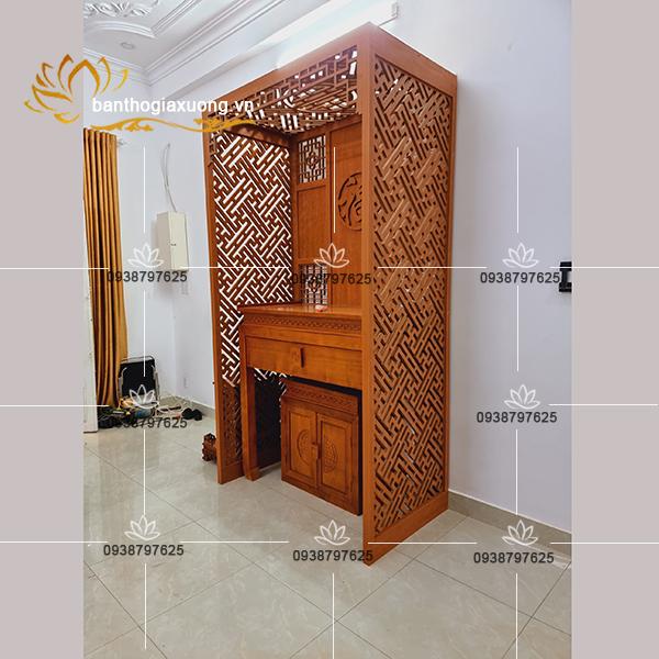Thiết kế mẫu vách ngăn nội thất phòng thờ đẹp tại tphcm