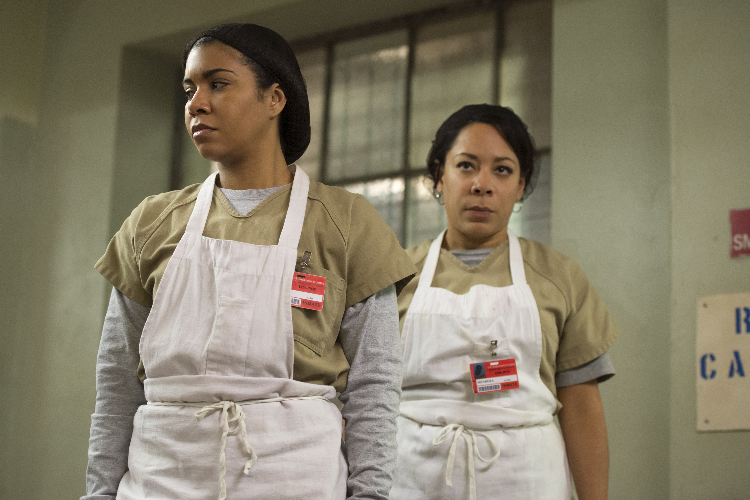 Maria Ruiz (Jessica Pimentel) e Gloria Mendoza (Selenis Leyva) Orange is the New Black  detenute di Litchfield