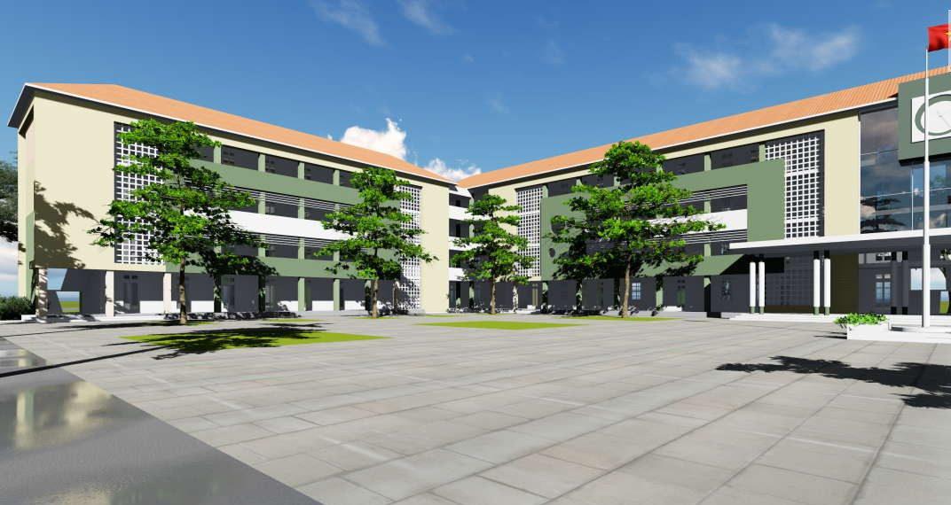 Trường học hiện đại với mái tôn
