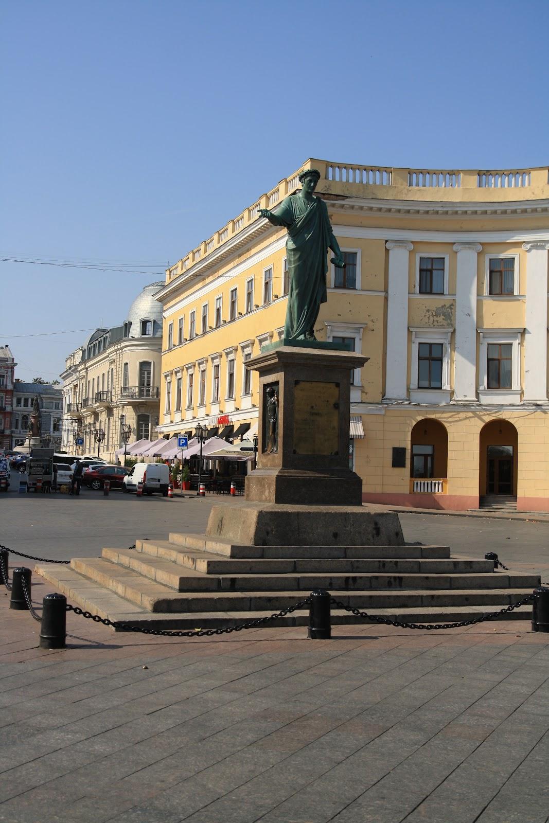 визначна пам'ятока Одеси -пам'ятник Дюку Рішельє