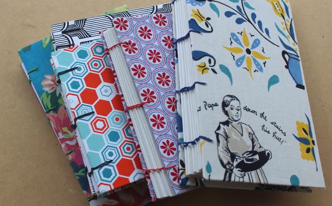patterned book covers