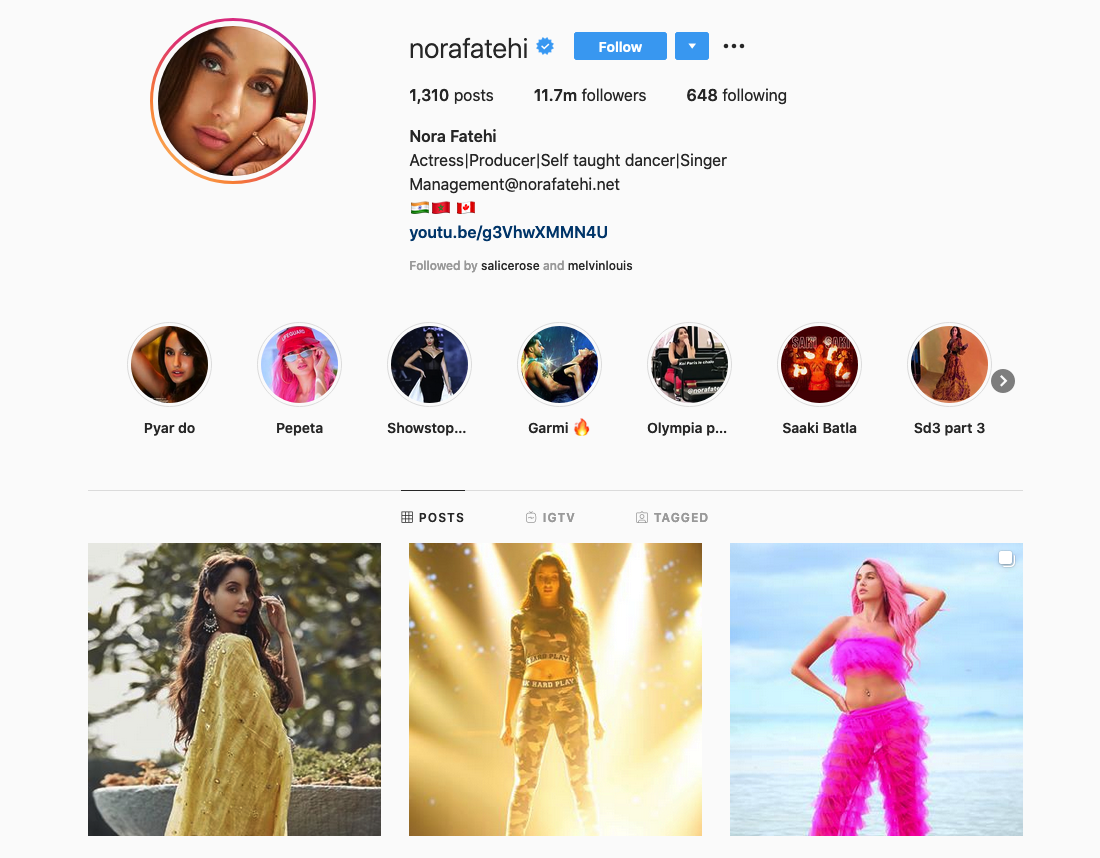 Nora Fatehi | Actress, Producer, Singer, Dancer