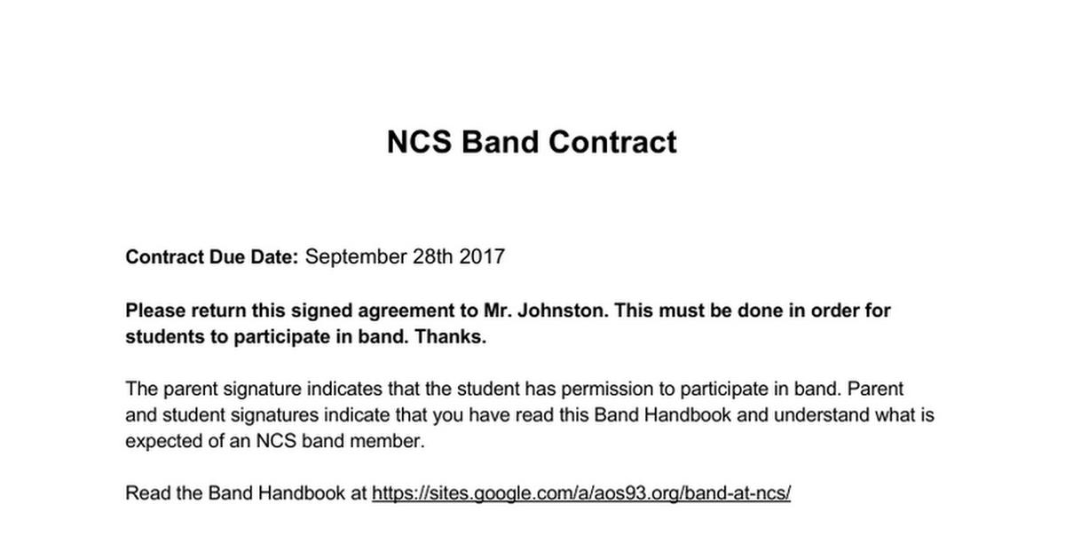 Ncs Band Contractcx Google Docs
