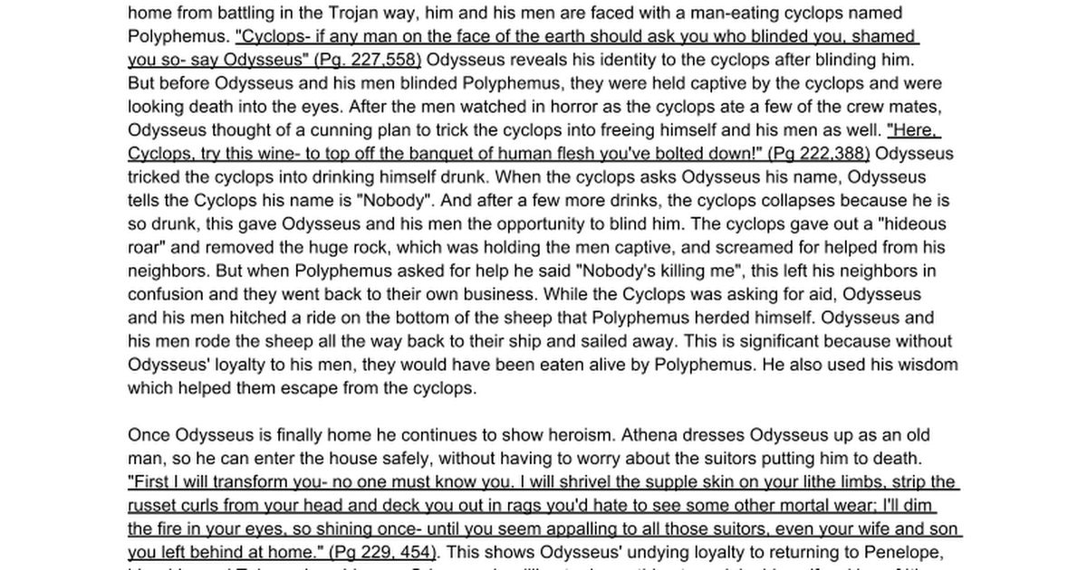 odysseus the epic by homer essay Summary: considers makes odysseus an epic hero in literature details many of the stories in which he has appeared including homer's odyssey odysseus, epic hero what makes odysseus an epic hero odysseus has been one of the most frequently portrayed figures in literature he has both heroic traits .