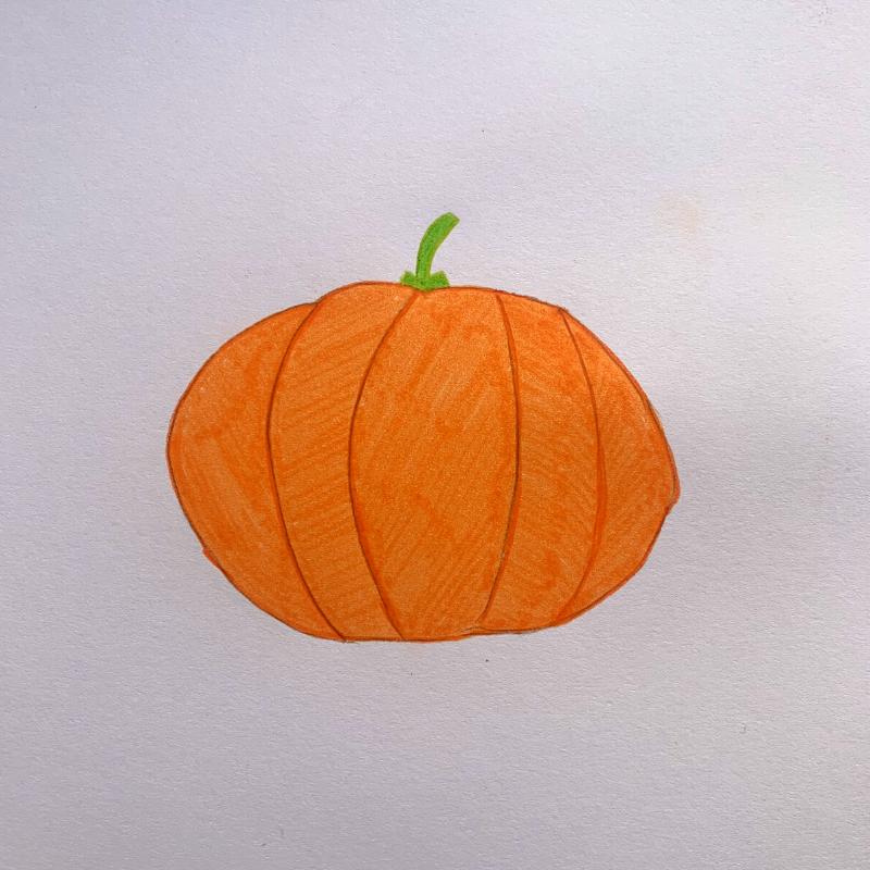 dessin d'une citrouille