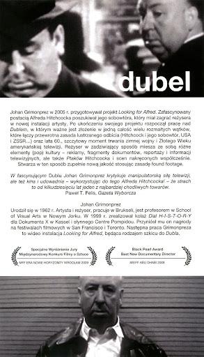 Tył ulotki filmu 'Dubel'