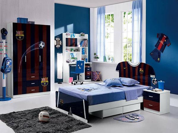 Phòng ngủ bé trai đẹp theo phong cách thể thao