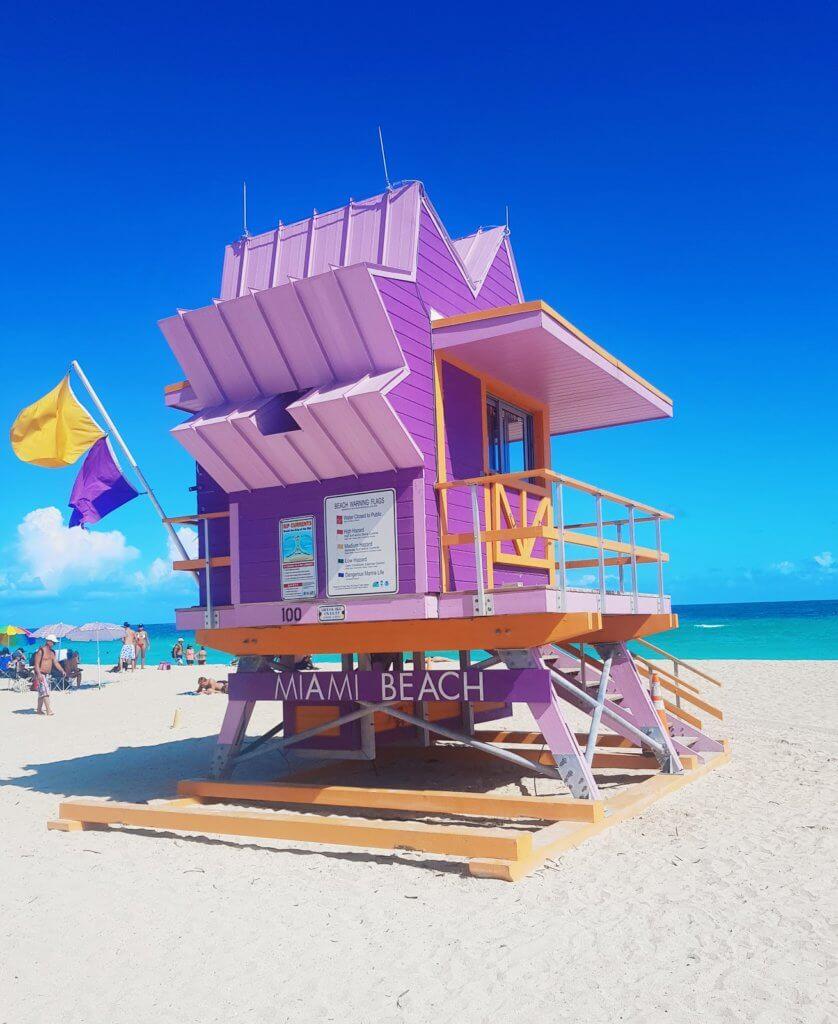 מיאמי ביץ' חוף ים חופשה טרופית