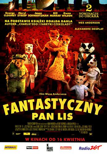 Przód ulotki filmu 'Fantastyczny Pan Lis'