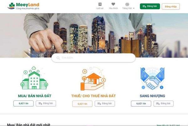 Meeyland – Trang cập nhật tin nhanh bất động sản đầy đủ nhất
