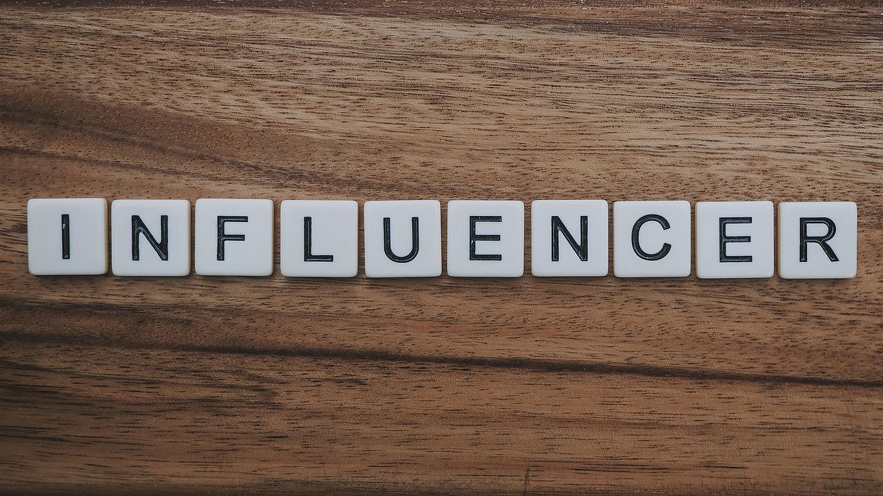 "The word ""Influencer"" written in blocks"