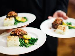 plated dinner serving food at your wedding reception