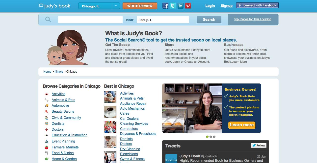 judy's book homepage