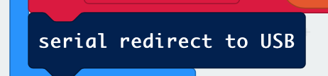 serial redirect in MakeCode