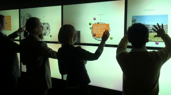 Multitouch wall. Source: Pinterest. Retail Digital Signage - Rev Interactive