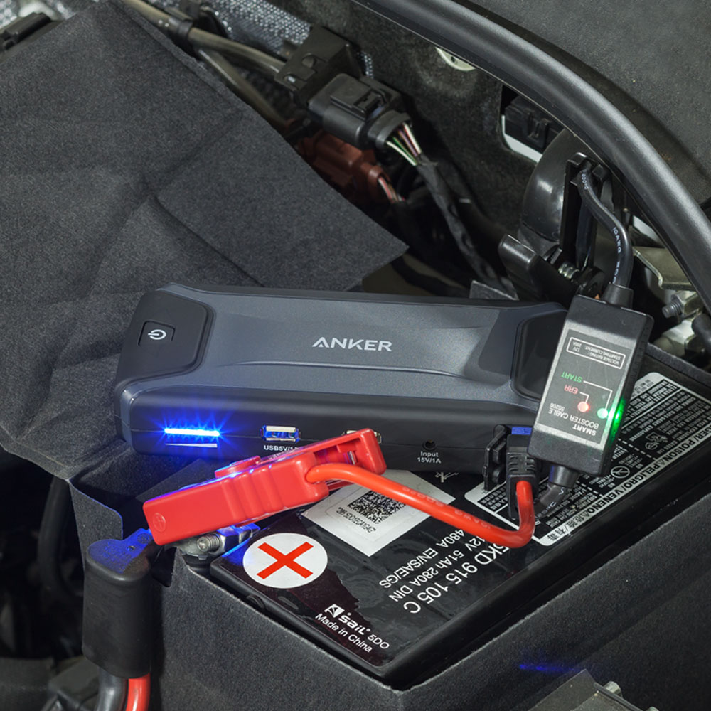 Compact Car Jump Starter and Portable Charger