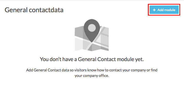 general contactdata add module button