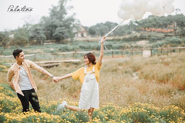 chụp ảnh cưới phim trường thảo nguyên hoa