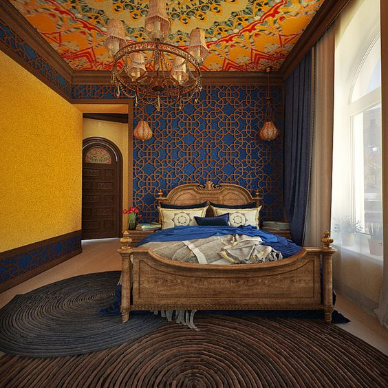Chinese-Inspired Moroccan Bedroom Ideas