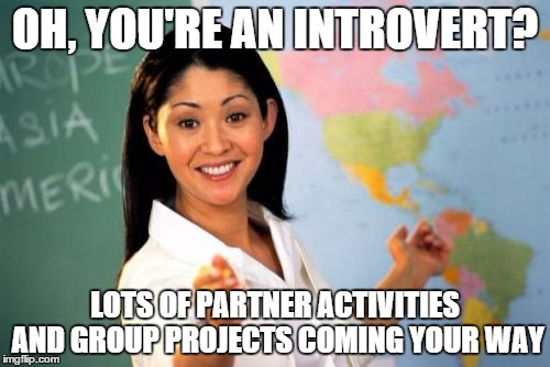 Introvert in a group project