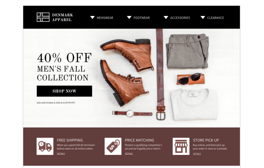 landing page for ecommerce