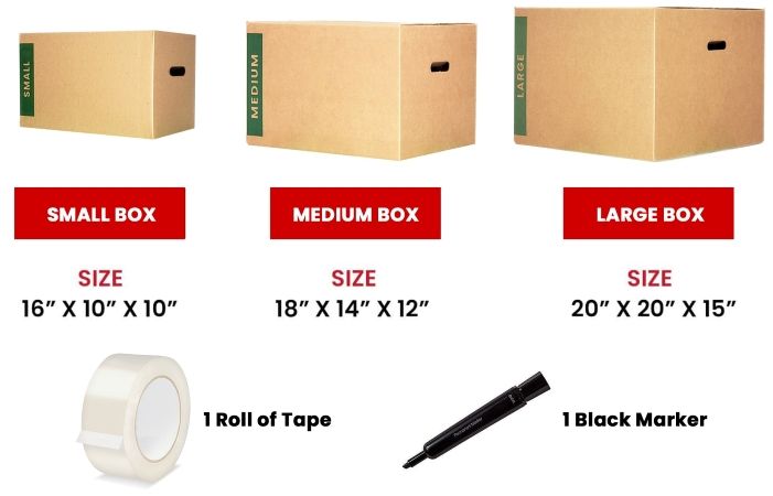 PODS packing supplies kit