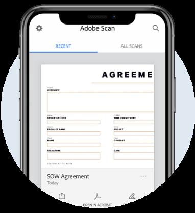 adobe scan - aplikacje na telefon