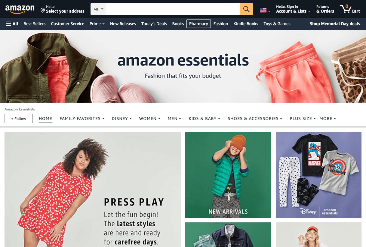 Amazon Essentials.