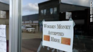 wooden money accepted here