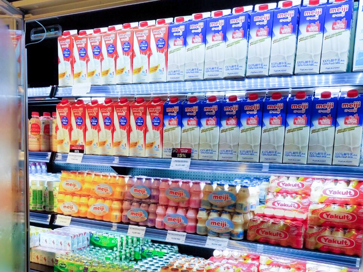 Hình ảnh Sữa chua uống Meiji trên thị trường