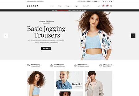 Wordpress ecommerce theme Lorada