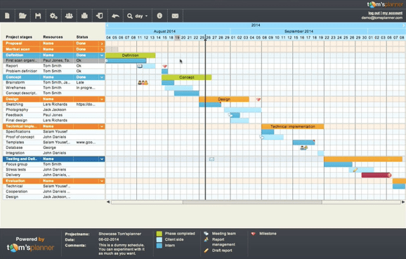 best gantt chart software tom's planner