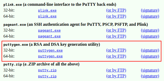 putty keygen tool download