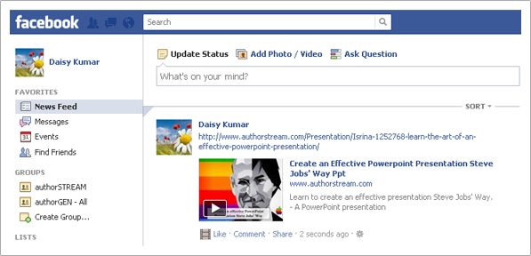 How To Embed Powerpoint Presentations On Your Facebook Wall