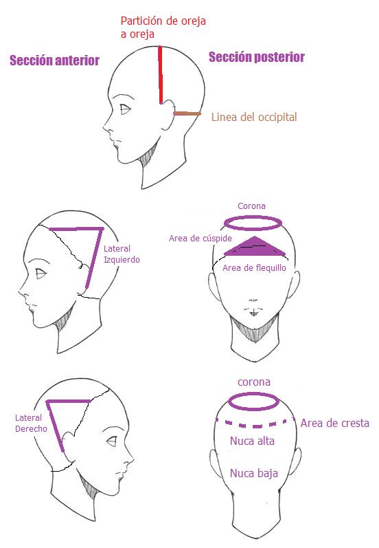 Cortes de cabello con lineas diagonales