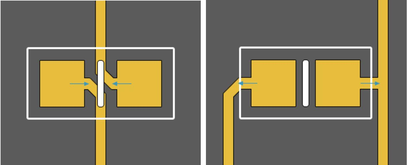 PCB design guidelines showing preferred routing