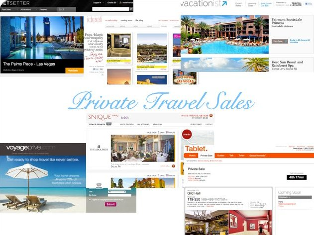 private sales for travel websites