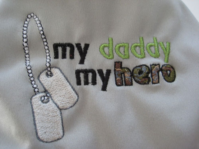 My Daddy My Hero Embroidered OS Pocket/AI2 Cloth Diaper