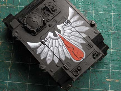 Blood Angels Death Company Rhino freehand