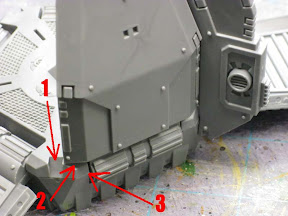 Space Marine drop pod outer doors