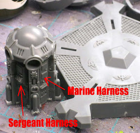 Space Marine drop pod center console